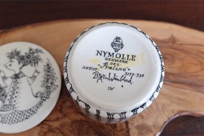Praline プラリネ(チョコレート)キャニスター デンマーク ニモール窯 ビョルンビンブラッド・デザイン 黒色