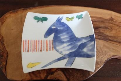 アンディ・ウォーホル (Andy Warhol)デザイン 独 ローゼンタール製 3つに分かれているタイプ 青い馬柄