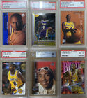 6 Card Lot of Kobe Bryant 1996-97 Rookie Basketball Cards Graded PSA 9 Mint RC
