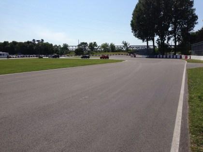 Towards turn 1 and the Virage Senna.