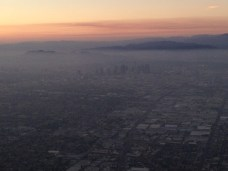 You guessed it, approaching Los Angeles, CA.