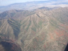 Utah from a plane.