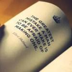 Rzecz o popełnianiu błędów, przemijającym czasie i stawianiu sobie wysoko poprzeczki