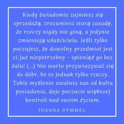 Joanna Dymmel Gdzie rosną pieniądze Cytat. Kobiece Finanase