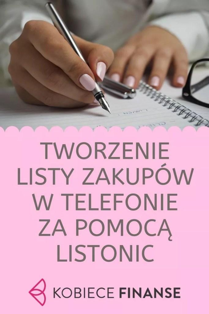 Tworzenie listy zakupów w Listonic