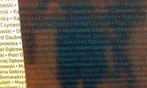 A to słynna tablica, na której wypisano imiona i nazwiska wszystkich startujących w 9. PW