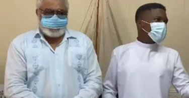 Video Clemento Suarez got JJ Rawlings to burst into laughter after they finally met
