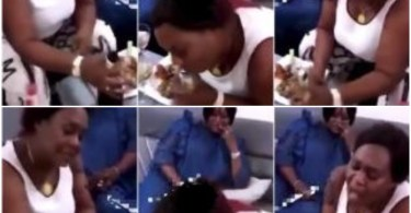 What This Naughty grandma Suck During Her Birthday Will Woow You - Video