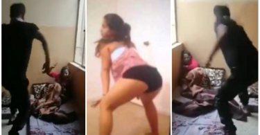 Father Disciplines Daughter With Belt After Seeing Her Doing Nak3d Twerking On TikTok - Video