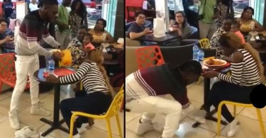 Angry N Mad Boyfriend Takes Off Shoes, Clothes N Food He Bought For Galfriend After She Rejected His Proposal - Video