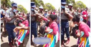 Alleged Policeman k¡lls 9-months-old baby with a baton stick while assaulting her mother - Video