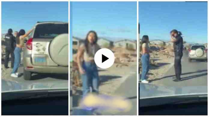 Policeman On Duty Patrol Stops A Car N Finds Out His Wife Was Inside With Boyfriend - Video