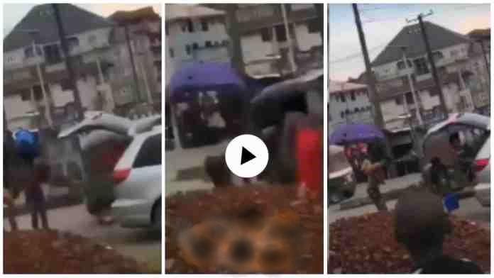 "Yahoo Boys Bath In De Middle Of Da Street While ""juju man"" Do Ritual On DEM - Video"