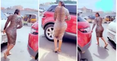 Heavy Loaded Backside Lady Causes Traffic As She Packs Her Range - Video Below
