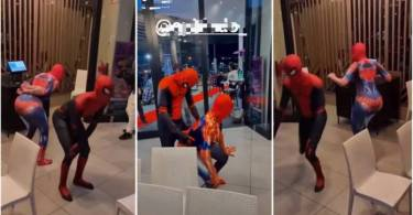 Africa's Only Spiderman Battle De Dance Floor With His Partner - Video