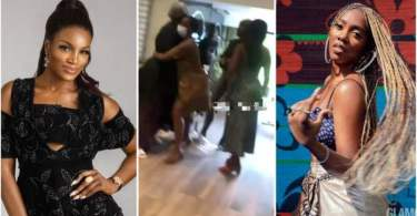 Tiwa Savage Go Dirty As She Call Seyi Shay Dirty And Disgusting Spirit During Fight In Salon - Video