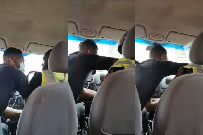 Strong Uber Driver Wrestle Hard With Police Officer For Seizing His Car Key While De Car Was Moving - Video