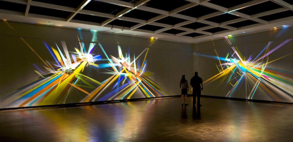 prismatic paintings from lighting by Stephen Knapp_kobi lighting studio 06