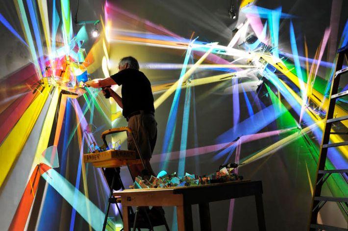prismatic paintings from lighting by Stephen Knapp_kobi lighting studio 10