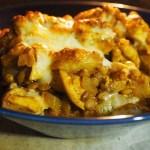 【しろくま旦那レシピ】レンズ豆と鶏肉の煮込みグリル
