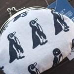 【ペンギングッズ】夏にぴったり♪涼しげなペンギン柄のがまぐち(南知多ビーチランド)