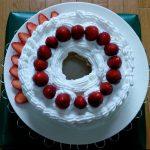 自家製酵母のシフォンケーキでいちごショートケーキ(誕生日祝い)