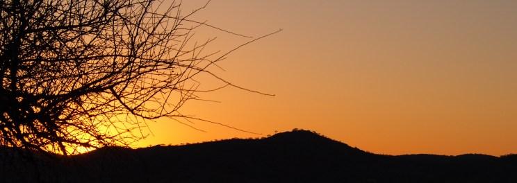 Sonnenuntergang auf der Ugab Terrace Lodge