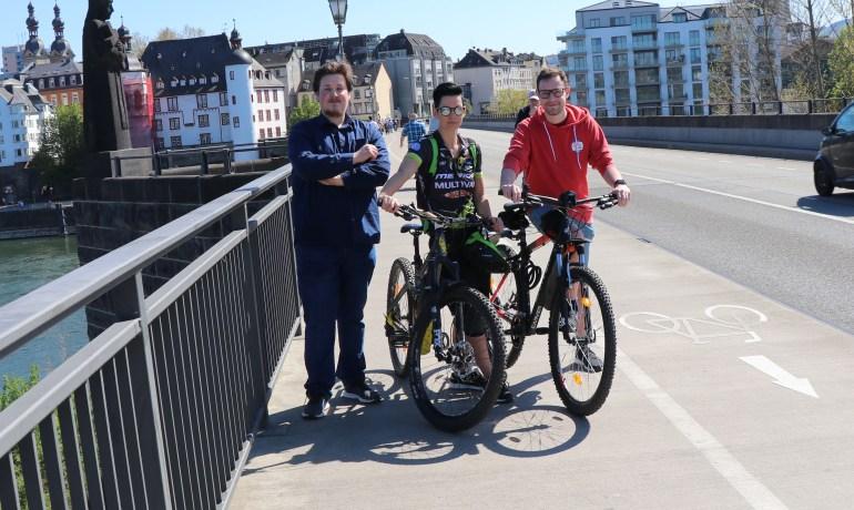 Balduinbrücke: Kleine Forderung des Fahrradtages wurde umgesetzt