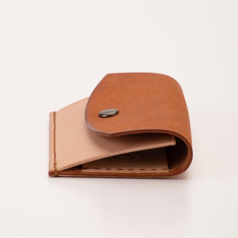 キーケース&カード キャメル