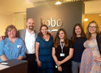 Joanna with the KWL team, from left: Operations Manager Jodi White, Director Mark Lefebvre, Coordinator Tara Cremin, Content Specialist Christina Potter, and US Manager Christine Munroe.