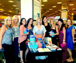 Pamela and fans at a bookstore event.