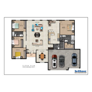 Rambler Home Plans   Kobza Home Builders 4 Bedroom  2 Bath     View Plan