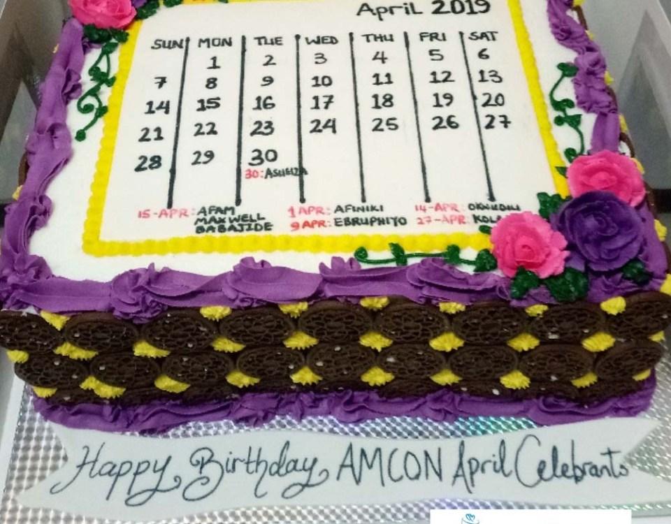 Corporate Calendar Cake