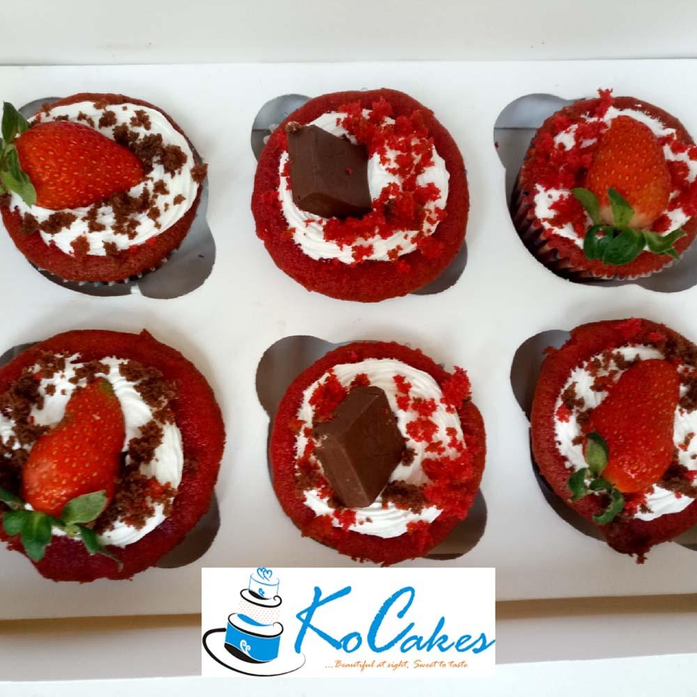 Strawberry and Chocolate Cupcake