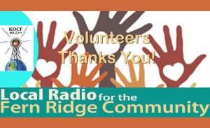 Volunteers Thank You