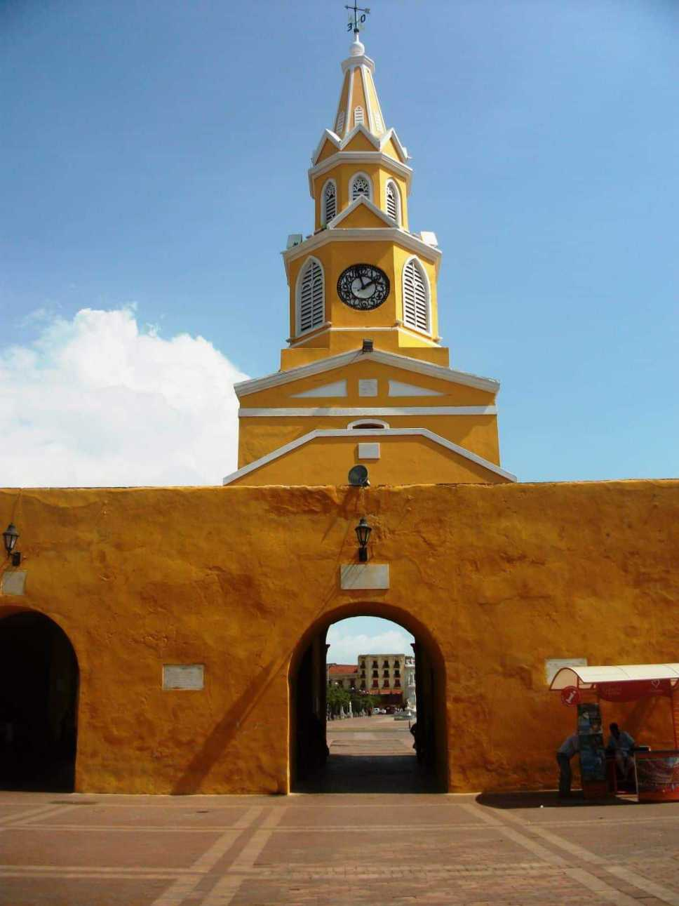 Stadmauer in Cartagena Kolumbien