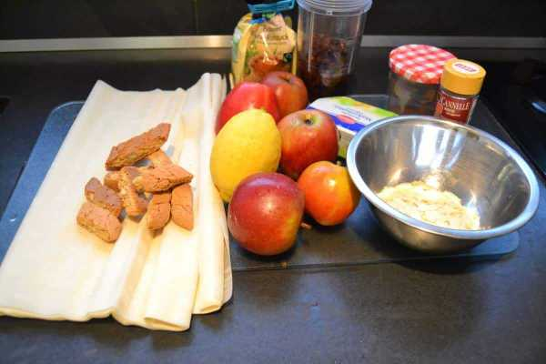 Zutaten Apfelstrudel Cantuccini,Mandeln,Äpfel ,Zimt ,Zucker