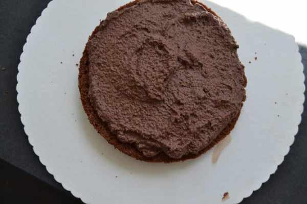 Schokoladen Biskuit mit Mousse au chocolat