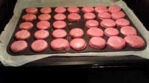 Macarons im Ofen