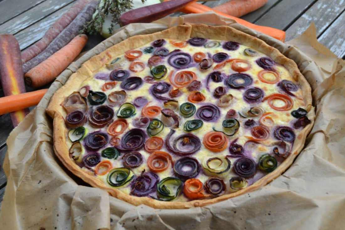 Gemüse-Rosen Tarte mit Ricotta