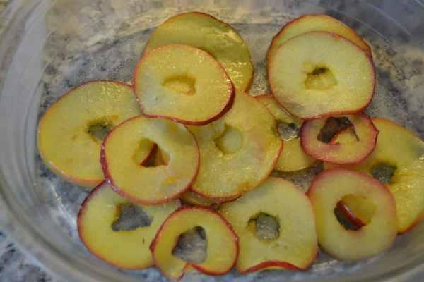 gebratene Apfelscheiben