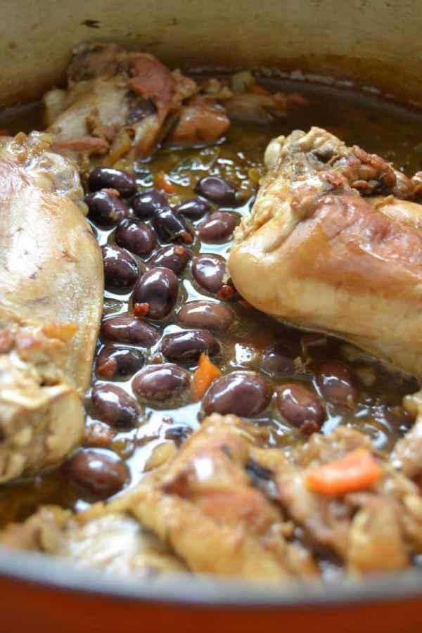 Kaninchen mit Aceto Balsamico Sauce Coniglio al Balsamico