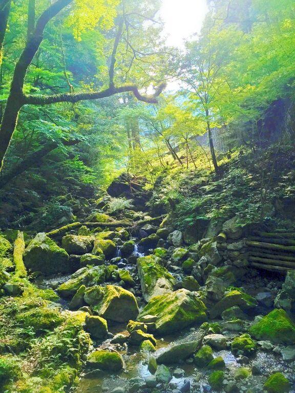 恋のパワースポット ハート形の滝!長沢の滝!
