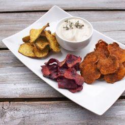 42 Gesunde Knabbereien Gemüsechips aus dem Ofen