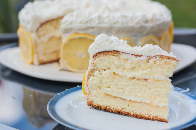 Torte Bottermelk Zitrone Sahne 15
