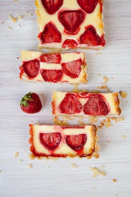 Erdbeer-Schmand-Tarte
