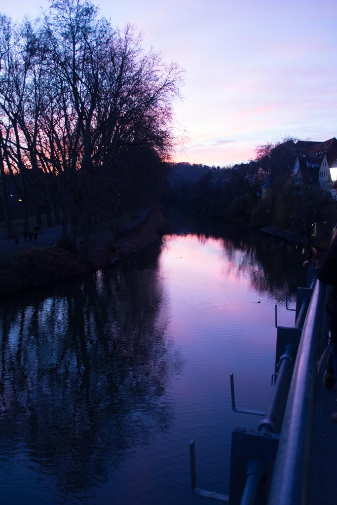 Wunderschön war auch der Sonnenuntergang über dem Neckar