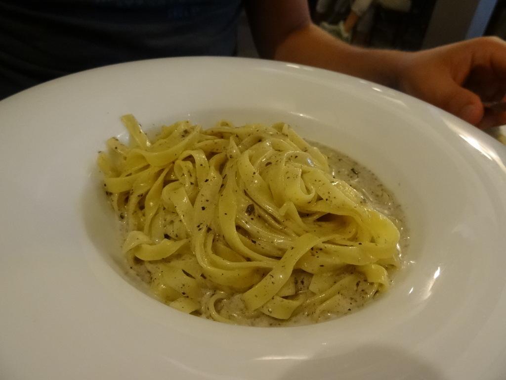Tagliatelle Tartufate mit Trüffel und Sahne (8etti, Viareggio)