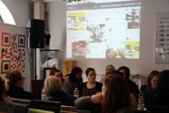 Und im Hintergrund immer präsent: Die Twitterwall!