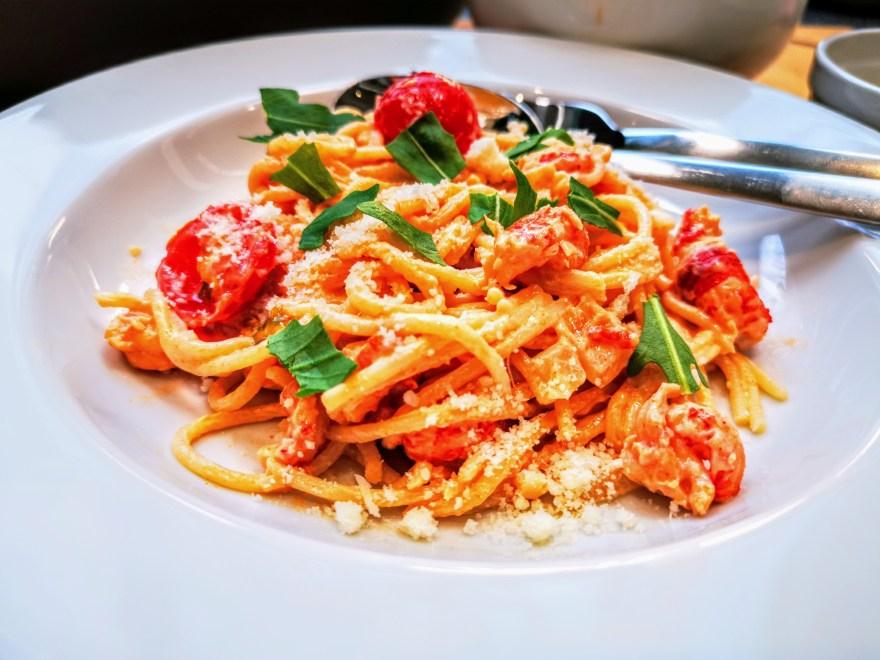 flusskrebsspaghetti